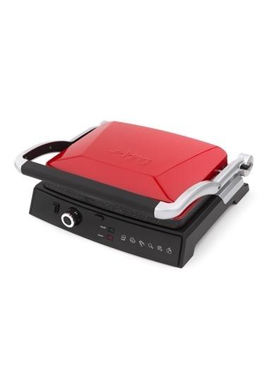 King K-462R Grill Master Tost Makinesi - Kırmızı Gri